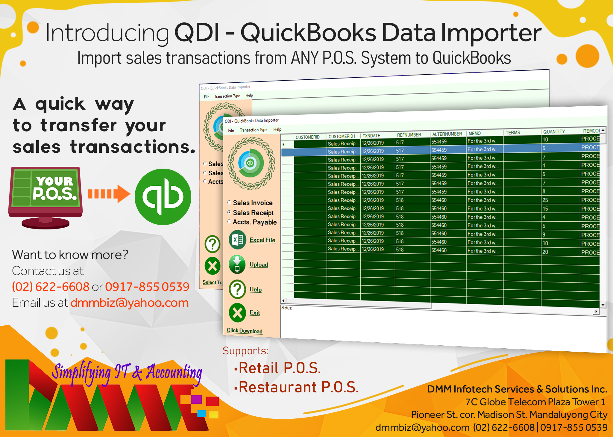 Quickbooks Data Importer